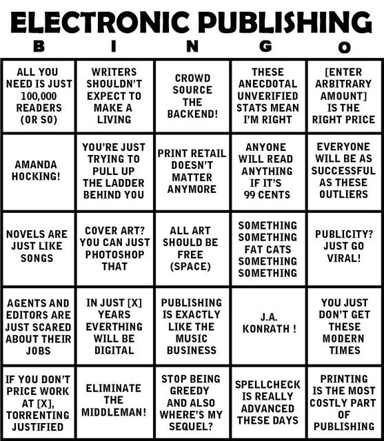 El bingo de la publicación electrónica