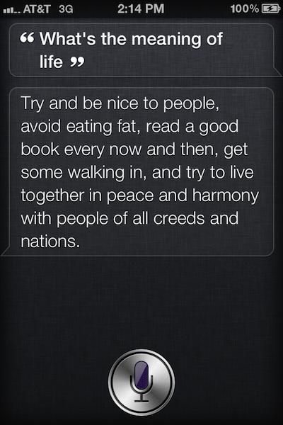 Las cosas que Siri dice